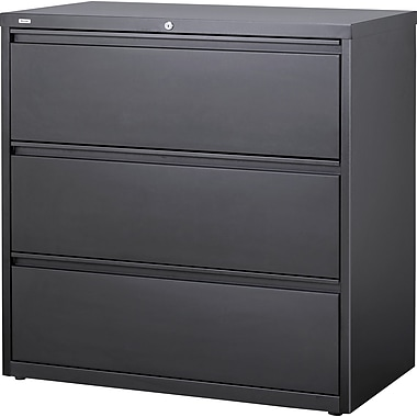 Staples 3 Drawer Lateral File, Charcoal,Letter/Legal, 42''W (26824D-CC)