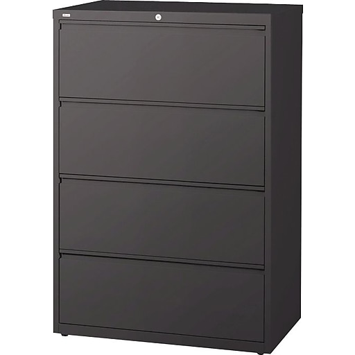 Staples 4 Drawer Lateral File Cabinet Locking Letter Legal Charcoal Https Www 3p S7 Is