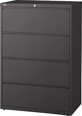Staples 4 Drawer Lateral File, Charcoal,Letter/Legal, 42''W