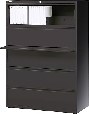 Staples 5 Drawer Lateral File, Charcoal,Letter/Legal, 36''W