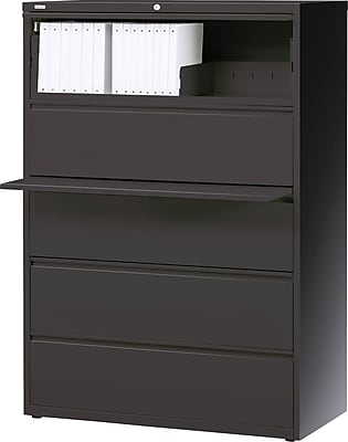 Staples 5 Drawer Lateral File, Black,Letter/Legal, 42''W (26828D-CC)