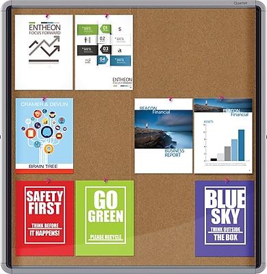 Quartet® Enclosed Cork Bulletin Board for Indoor Use, 38