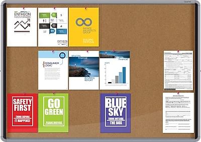 Quartet® Enclosed Cork Bulletin Board for Indoor Use, 56