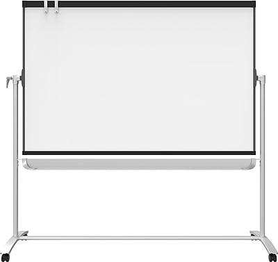 Prestige 2 4x3 magnetic presentation easel, 4 caster base