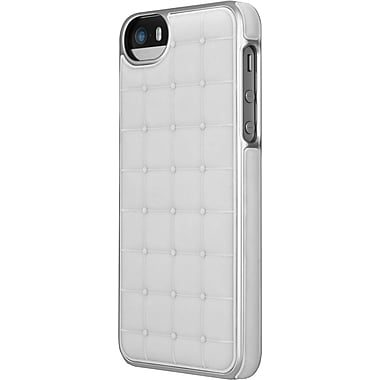 Adopted Cushion Wrap Case for iPhone 5/5S, White/Silver