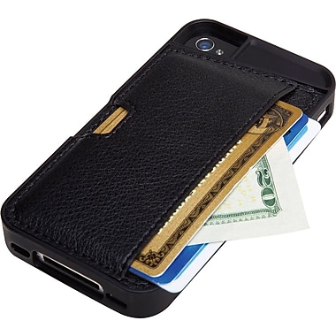 Q Card Case for iPhone 4/4S, Black