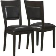 Monarch – Chaise d'appoint en simili-cuir, cappuccino/brun, paq./2