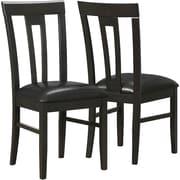 Monarch – Chaise d'appoint en simili-cuir à dossier élevé de 39 po, cappuccino foncé, paq./2