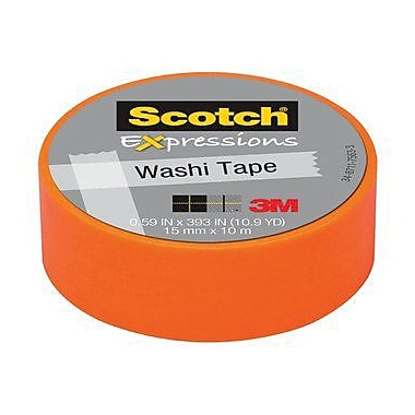 Scotch® – Ruban Expressions Washi, 15 mm x 10 m, orange