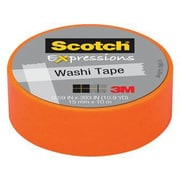 Scotch® Expressions Washi Tape, 15 mm x 10 m, Orange