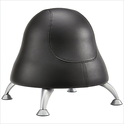 Safco Runtz Faux Leather Ball Office Chair, Armless, Black (4756BV)