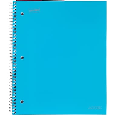 Staples Accel Durable Poly Cover Notebook, Graph Ruled, 8-1/2