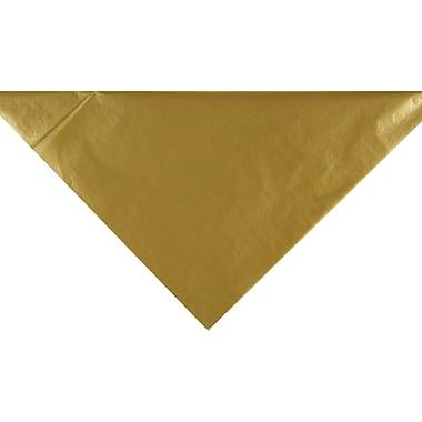 Bags & Bows - Papier de soie uni, 20 x 30 po, doré métallique, 200 feuilles/paquet