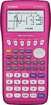 Casio Graphing Calculator, Pink (FX-9750GII)