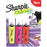 Sharpie Clear View Highlighter, Assorted, 3/Pack