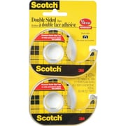 Scotch Permanent Double Sided Tape, 2/Pack