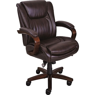 la z boy dawes manager s high back center pivot chair brown staples