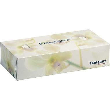 EmbassyMD – Mouchoirs Supreme 2 épaisseurs 7,5 x 8,4 po, blanc, 36/paquet