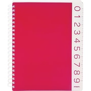 Poppin Red 3-Subject Notebook, Ruler Edged