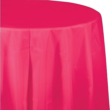Creative Converting Hot Magenta Octy/Round Tablecover