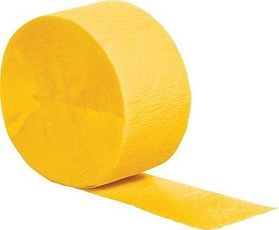 Creative Converting School Bus Yellow Crepe Streamers