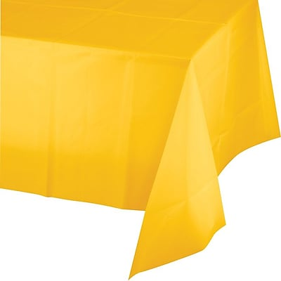 Creative Converting School Bus Yellow Rectangular Tablecover