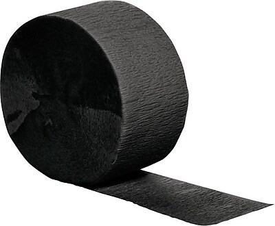 Creative Converting Black Velvet Crepe Streamers