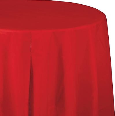 Creative Converting Classic Red Octy/Round Tablecover