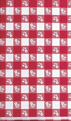 Creative Converting Red Gingham Octy/Round Tablecover