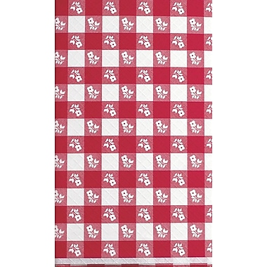 Creative Converting Red Gingham Rectangular Stay Put Tablecover