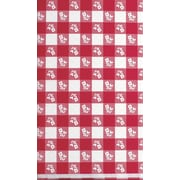 """Creative Converting Red Gingham 30"""" x 96"""" Rectangular Stay Put Tablecover"""