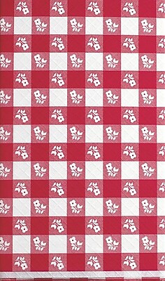 Creative Converting Red Gingham Paper Rectangular Tablecover