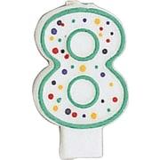 Creative Converting Polka Dot 8 Numeral Candle