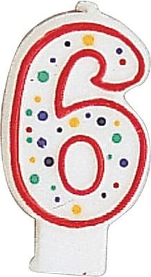 Creative Converting Polka Dot 6 Numeral Candle