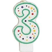 Creative Converting Polka Dot 3 Numeral Candle