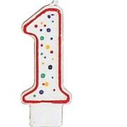 Creative Converting Polka Dot 1 Numeral Candle