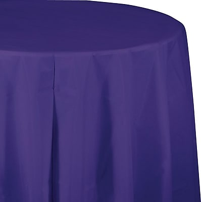 Creative Converting Purple Octy/Round Tablecover