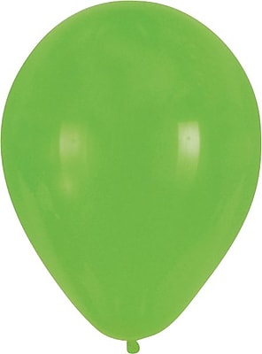 Creative Converting Fresh Lime Latex Balloons, 15/Pack