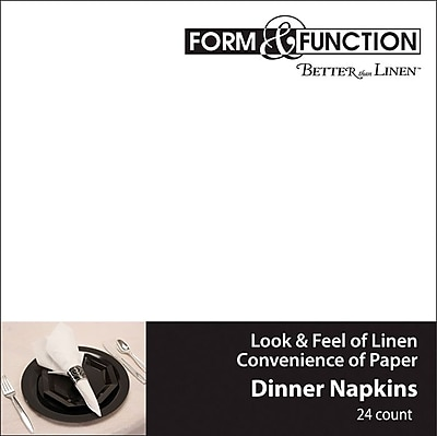 Creative Converting White Airlaid Dinner Napkins, 24/Pack