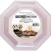 Creative Converting Clear Octagonal Luncheon Plates, 12/Pack