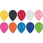 Creative Converting Latex Balloons, Assorted Colors, 15/Pack (041316)