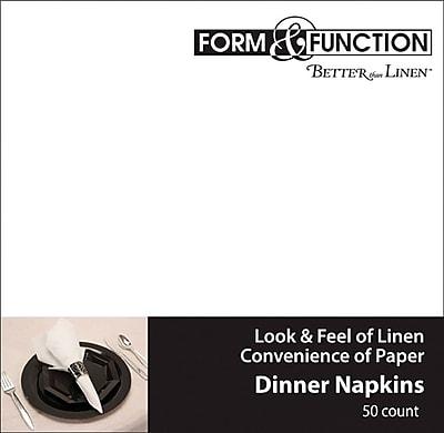 Creative Converting White Dinner Napkins, 50/Pack