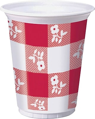 Creative Converting Red Gingham Cups, 25/Pack 1005687