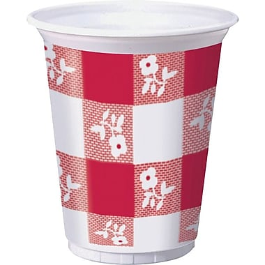 Creative Converting Red Gingham Cups, 25/Pack