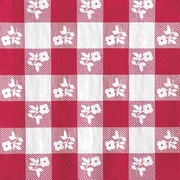 Creative Converting Red Gingham 2-Ply Luncheon Napkins, 50/Pack