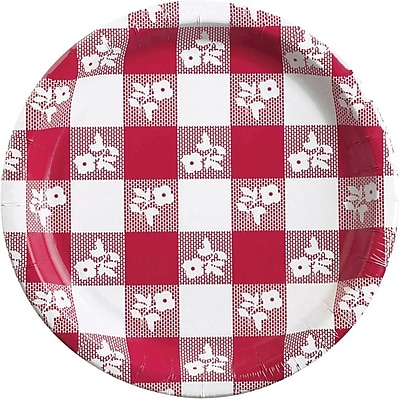 Creative Converting Red Gingham 9