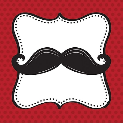 Creative Converting Mustache Madness Beverage Napkins, 16/Pack