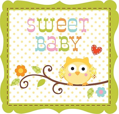 Creative Converting Happi Tree Sweet Baby Boy 3-Ply Beverage Napkins, 16/Pack