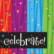 "Creative Converting Milestone Celebrations ""Celebrate"" 3-Ply Luncheon Napkins, 16/Pack"