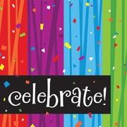 "Creative Converting Milestone Celebrations ""Celebrate"" Beverage Napkins, 16/Pack"